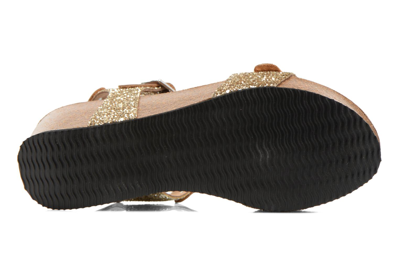 Sandales et nu-pieds Rondinaud Braye Or et bronze vue haut