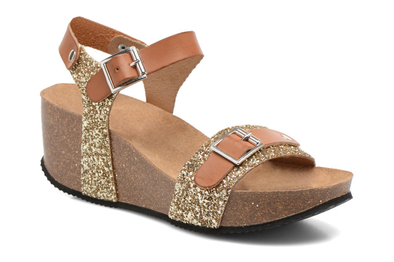 Sandales et nu-pieds Rondinaud Braye Or et bronze vue détail/paire