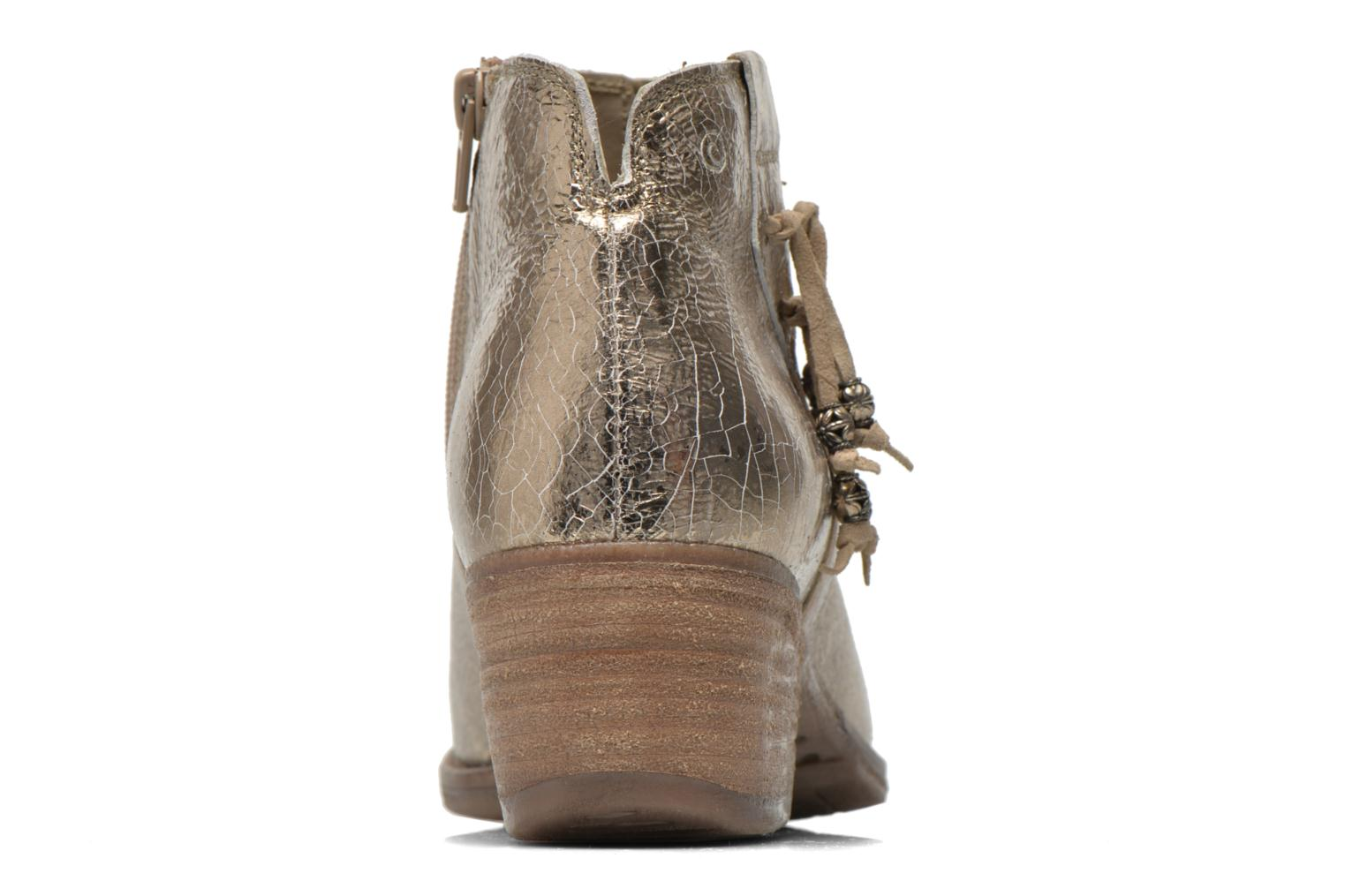 Ankle boots Khrio Monteria 2 Bronze and Gold view from the right