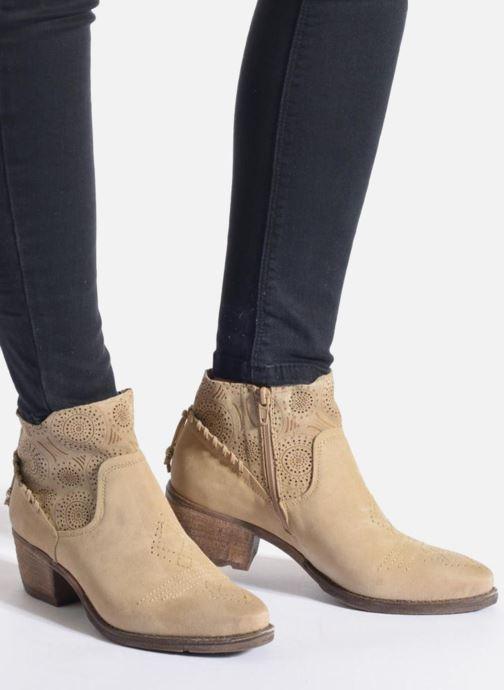 Bottines et boots Khrio Florencia Beige vue bas / vue portée sac