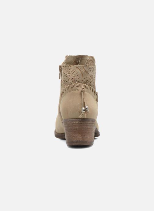Bottines et boots Khrio Florencia Beige vue droite