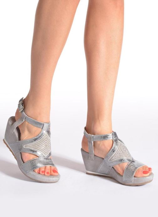 Sandals Khrio Monteria Silver view from underneath / model view