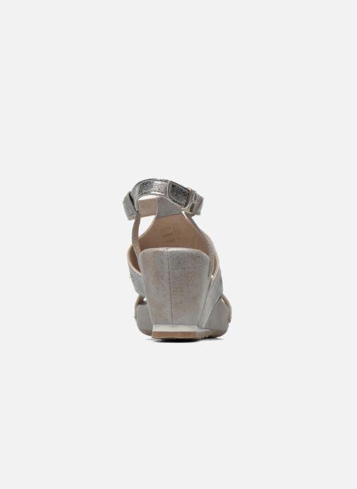 Sandales et nu-pieds Khrio Monteria Argent vue droite