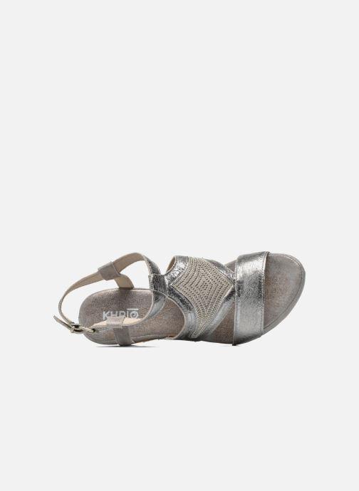 Sandales et nu-pieds Khrio Monteria Argent vue gauche