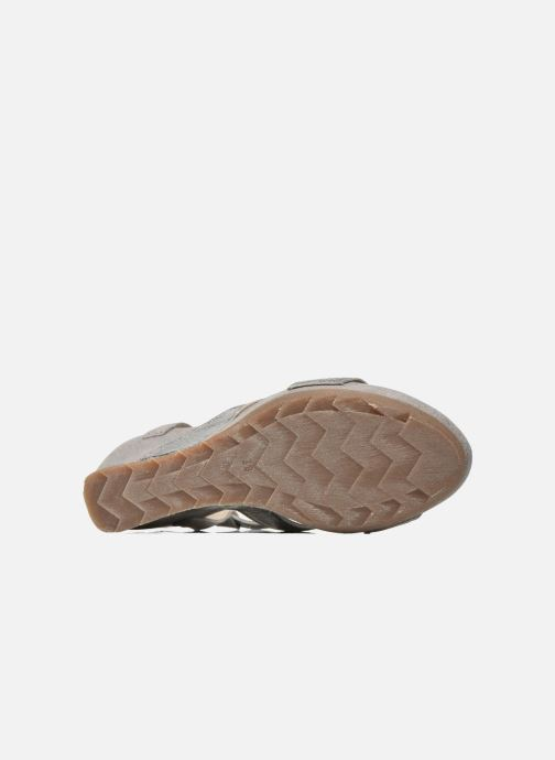 Sandales et nu-pieds Khrio Monteria Argent vue haut