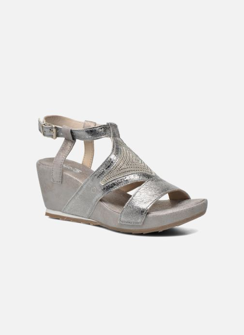 Sandals Khrio Monteria Silver detailed view/ Pair view
