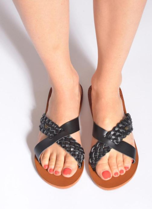 Mules & clogs Roxy Sol Black view from underneath / model view
