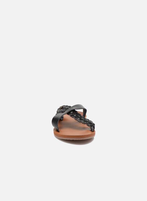 Mules et sabots Roxy Sol Noir vue portées chaussures