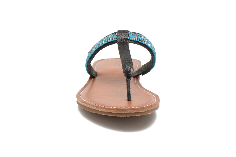 Tongs Roxy Marella Noir vue portées chaussures