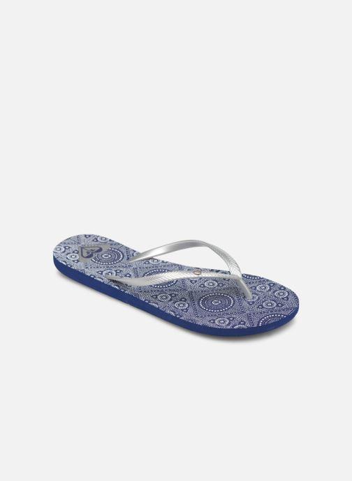 Tongs Roxy Bermuda Bleu vue détail/paire