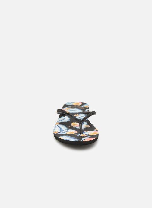 Tongs Roxy Bermuda Noir vue portées chaussures