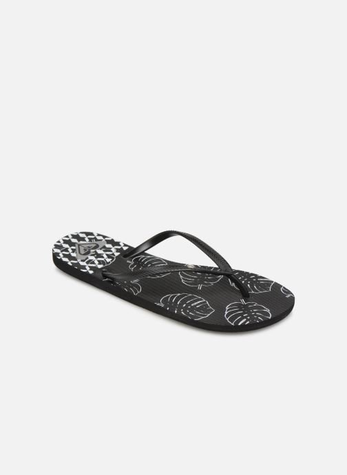 Flip flops Roxy Bermuda Black detailed view/ Pair view