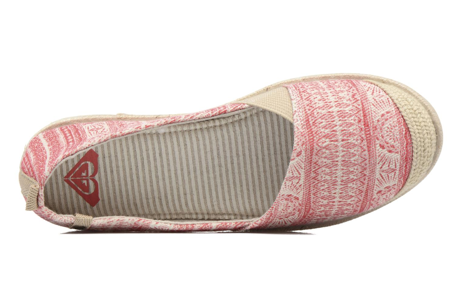 Espadrilles Roxy Flamenco Pink view from the left