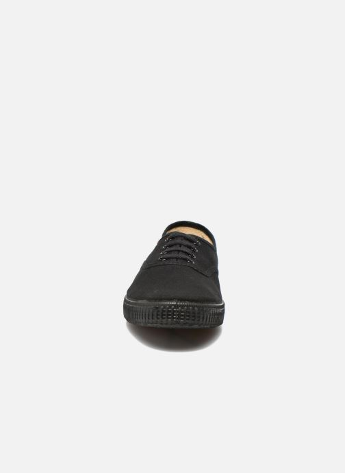 Baskets Victoria Inglesa Lona Piso Negro Noir vue portées chaussures