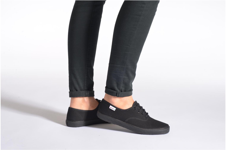 Sneakers Victoria Inglesa Lona Piso Negro Zwart onder