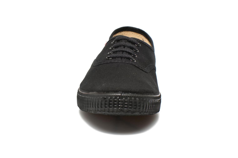 Sneakers Victoria Inglesa Lona Piso Negro Zwart model
