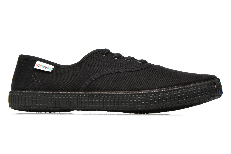 Sneakers Victoria Inglesa Lona Piso Negro Zwart achterkant