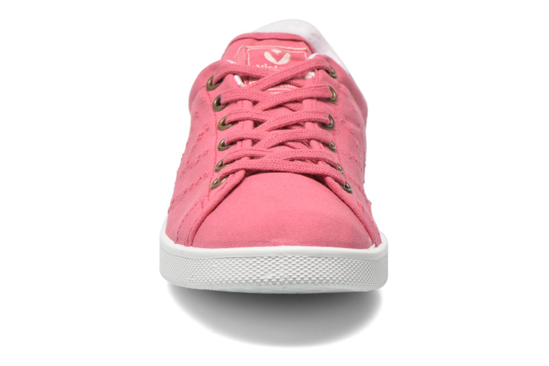 Baskets Victoria Deportivo Basket Lona Tinta Rose vue portées chaussures