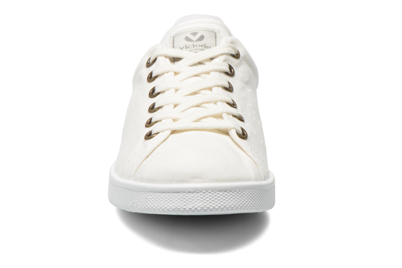 Baskets Victoria Deportivo Basket Lona Blanc vue portées chaussures