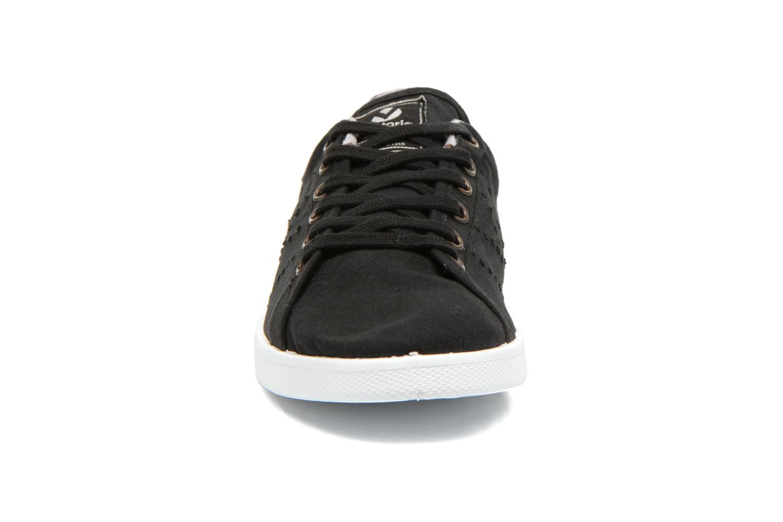 Baskets Victoria Deportivo Basket Lona Noir vue portées chaussures