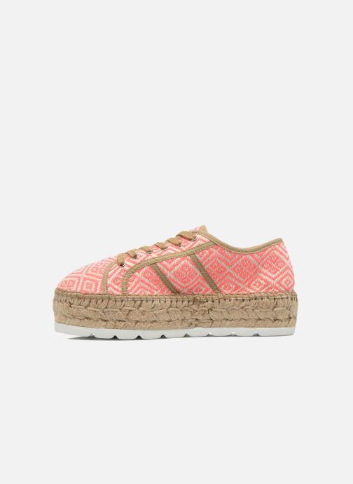 Zapatos con cordones Victoria Basket Etnico Plataforma Yu Rosa vista de frente