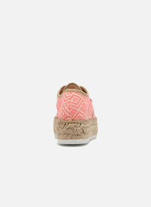 Lace-up shoes Victoria Basket Etnico Plataforma Yu Pink view from the right