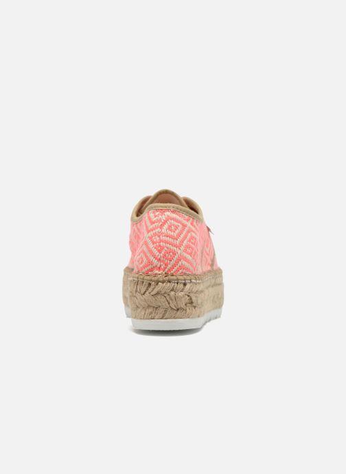Zapatos con cordones Victoria Basket Etnico Plataforma Yu Rosa vista lateral derecha