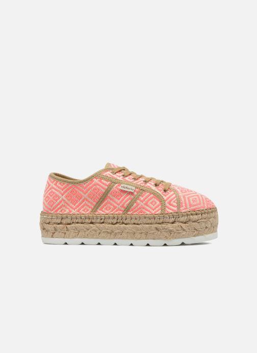 Zapatos con cordones Victoria Basket Etnico Plataforma Yu Rosa vistra trasera