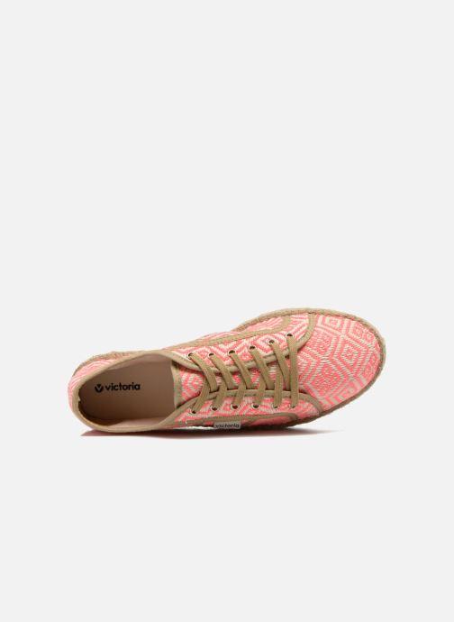 Zapatos con cordones Victoria Basket Etnico Plataforma Yu Rosa vista lateral izquierda
