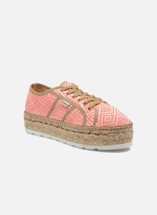 Zapatos con cordones Victoria Basket Etnico Plataforma Yu Rosa vista de detalle / par