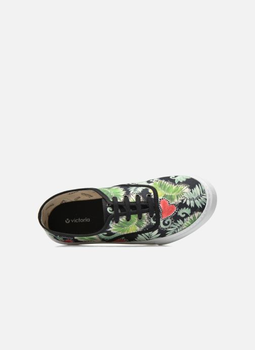 Sneakers Victoria Ingles Flores Y Corazones Multicolore immagine sinistra