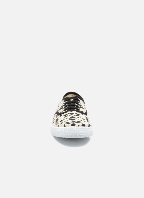 Sneaker Victoria Ingles Geometrico Lurex schwarz schuhe getragen