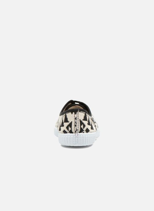 Sneaker Victoria Ingles Geometrico Lurex schwarz ansicht von rechts