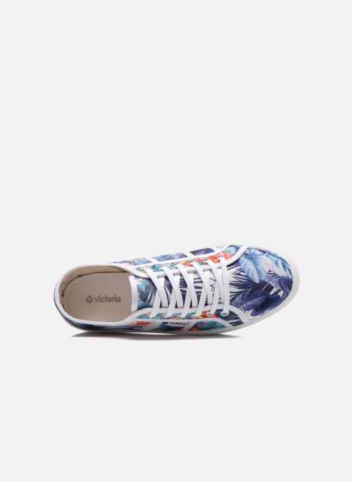 Trainers Victoria Basket Flores Y Corazones P Multicolor view from the left