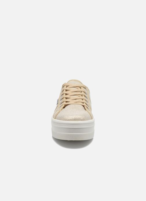 Sneaker Victoria Basket Tejido Lurex gold/bronze schuhe getragen