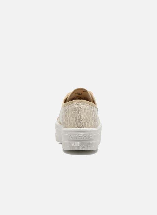 Victoria Basket Tejido Lurex (oro E Bronzo) - Sneakers Chez