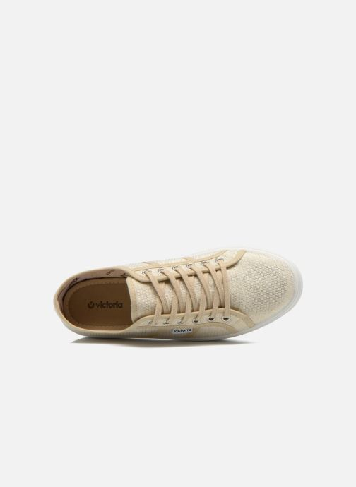 Sneakers Victoria Basket Tejido Lurex Goud en brons links