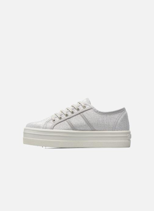 Sneakers Victoria Basket Tejido Lurex Zilver voorkant