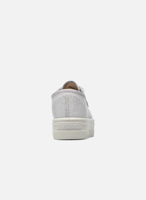 Sneakers Victoria Basket Tejido Lurex Zilver rechts