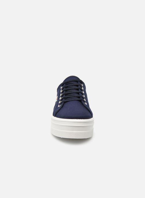 Baskets Victoria Basket Lona Plataforma Bleu vue portées chaussures