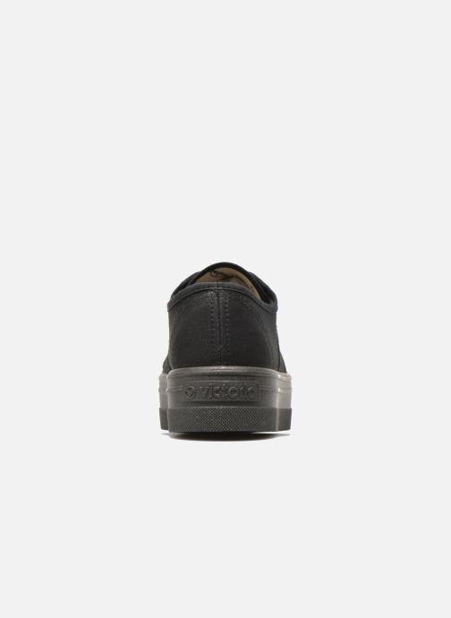 Sneakers Victoria Basket Lona Plataforma Nero immagine destra