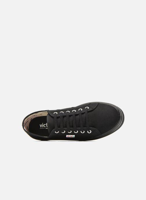 Sneakers Victoria Basket Lona Plataforma Zwart links