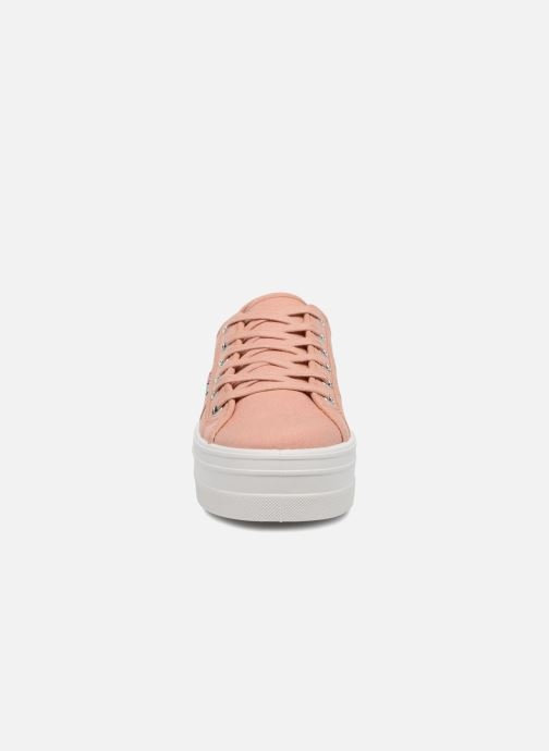 Sneaker Victoria Basket Lona Plataforma rosa schuhe getragen
