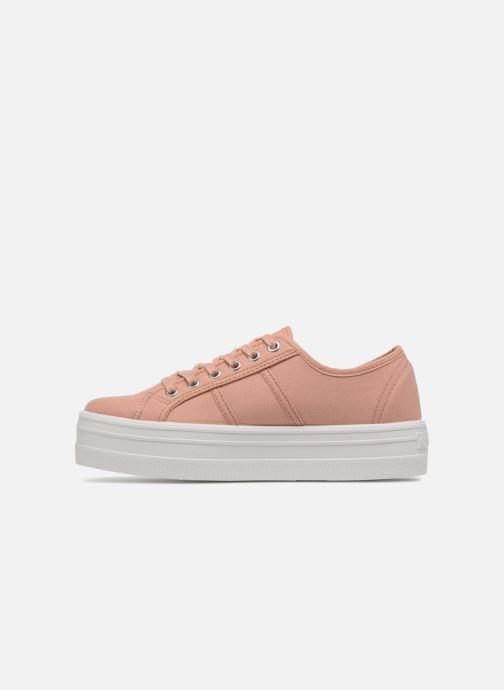 Sneakers Victoria Basket Lona Plataforma Roze voorkant