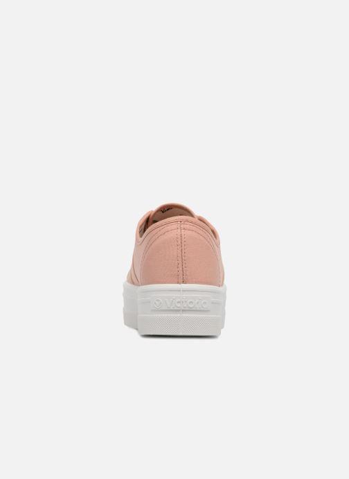 Sneaker Victoria Basket Lona Plataforma rosa ansicht von rechts