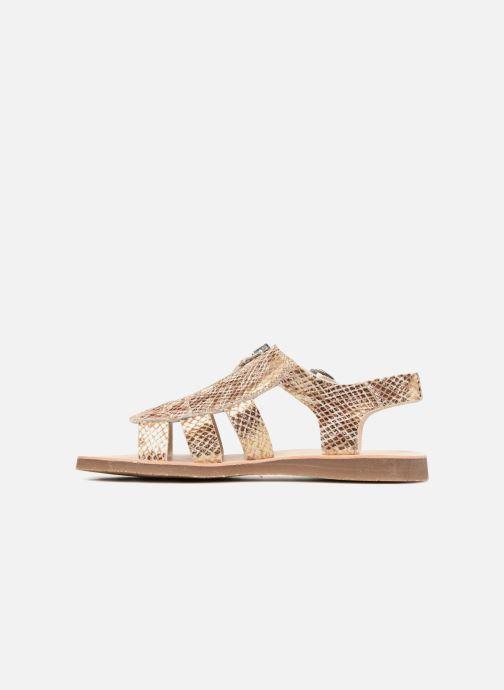 Sandales et nu-pieds Yep Daisie Or et bronze vue face