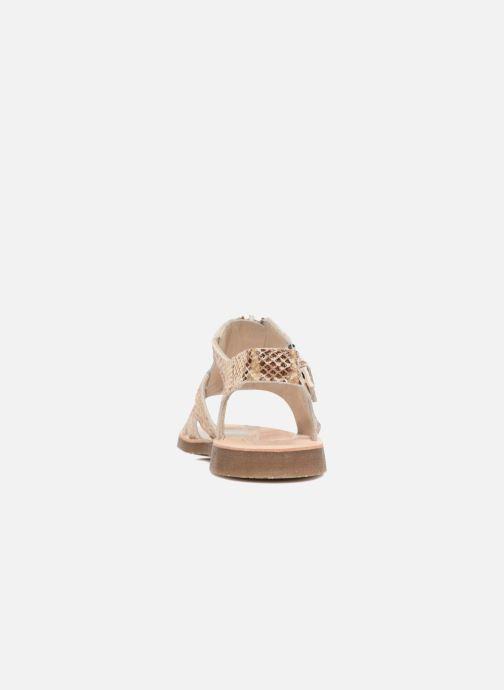 Sandales et nu-pieds Yep Daisie Or et bronze vue droite