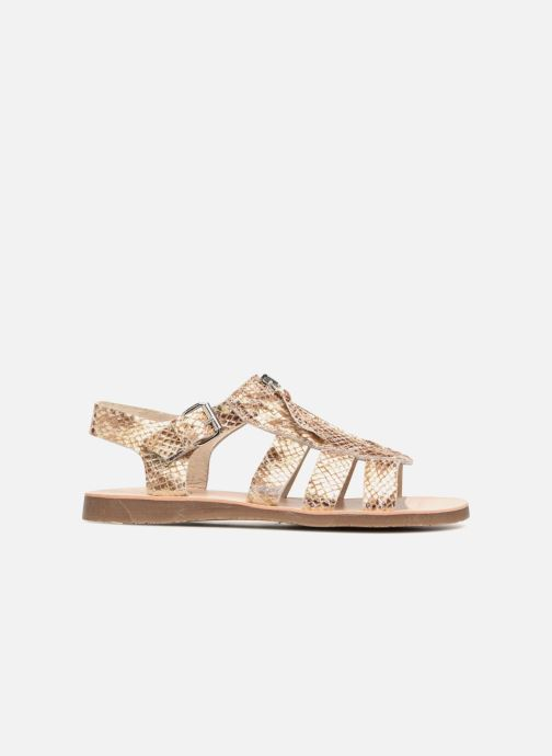 Sandales et nu-pieds Yep Daisie Or et bronze vue derrière
