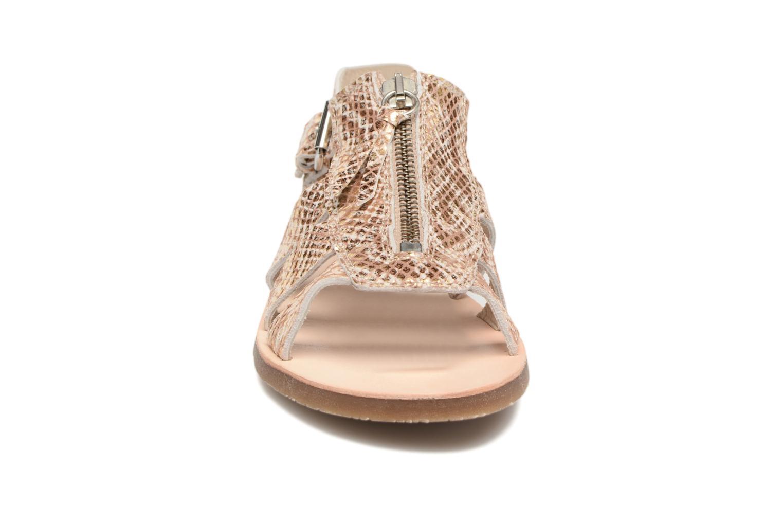 Sandales et nu-pieds Yep Daisie Or et bronze vue portées chaussures