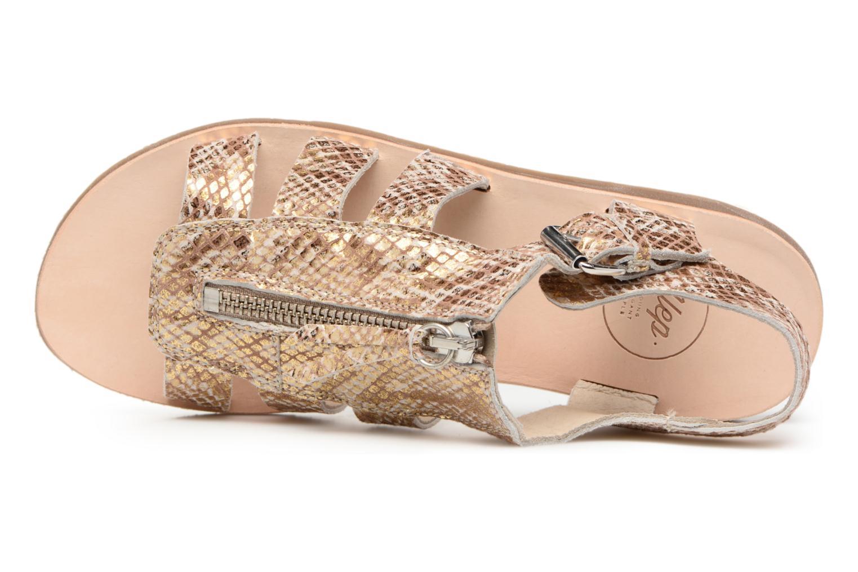 Sandales et nu-pieds Yep Daisie Or et bronze vue gauche